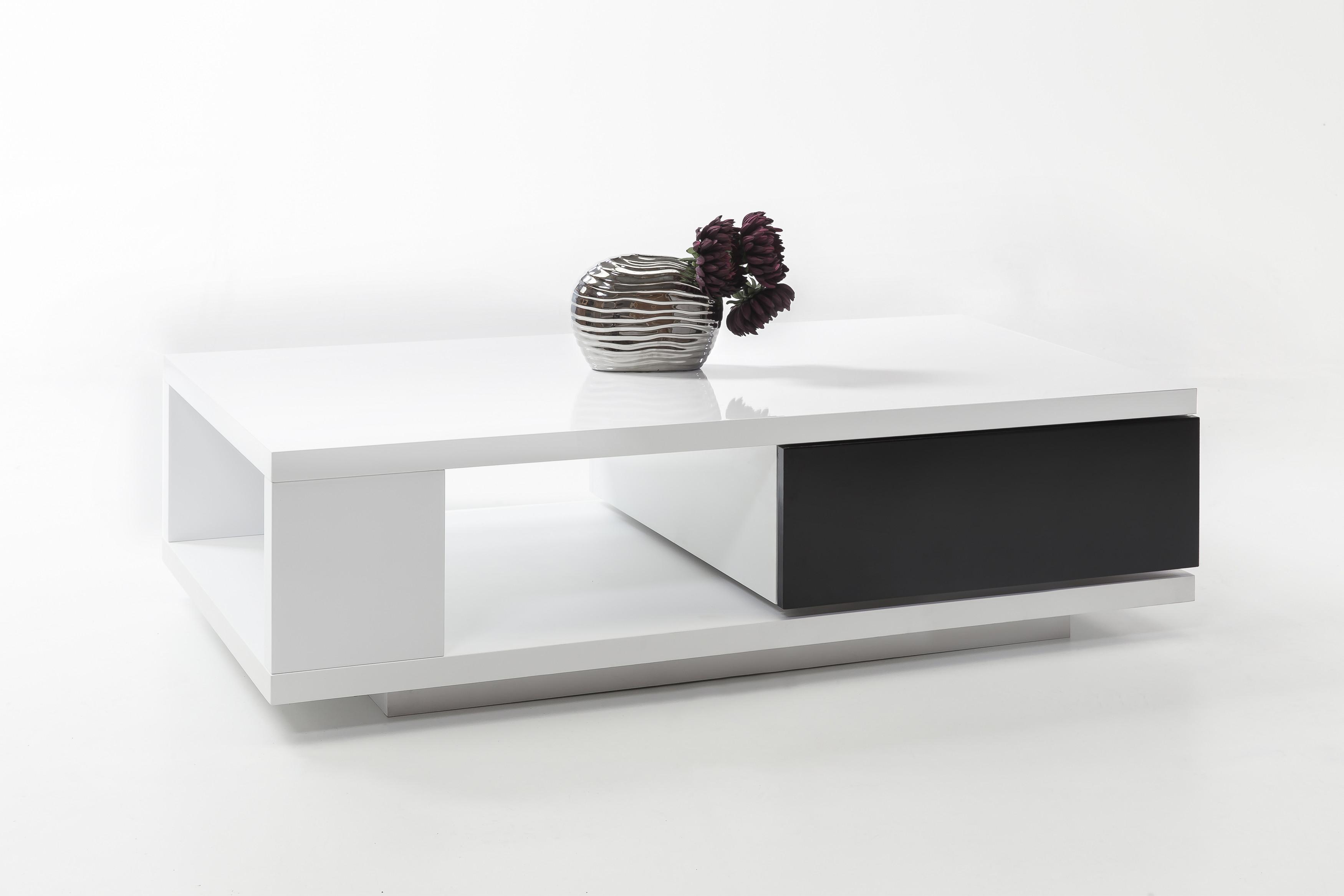 couchtisch weiss hochglanz schwarz lackiert woody 29 00558 modern m bel24. Black Bedroom Furniture Sets. Home Design Ideas