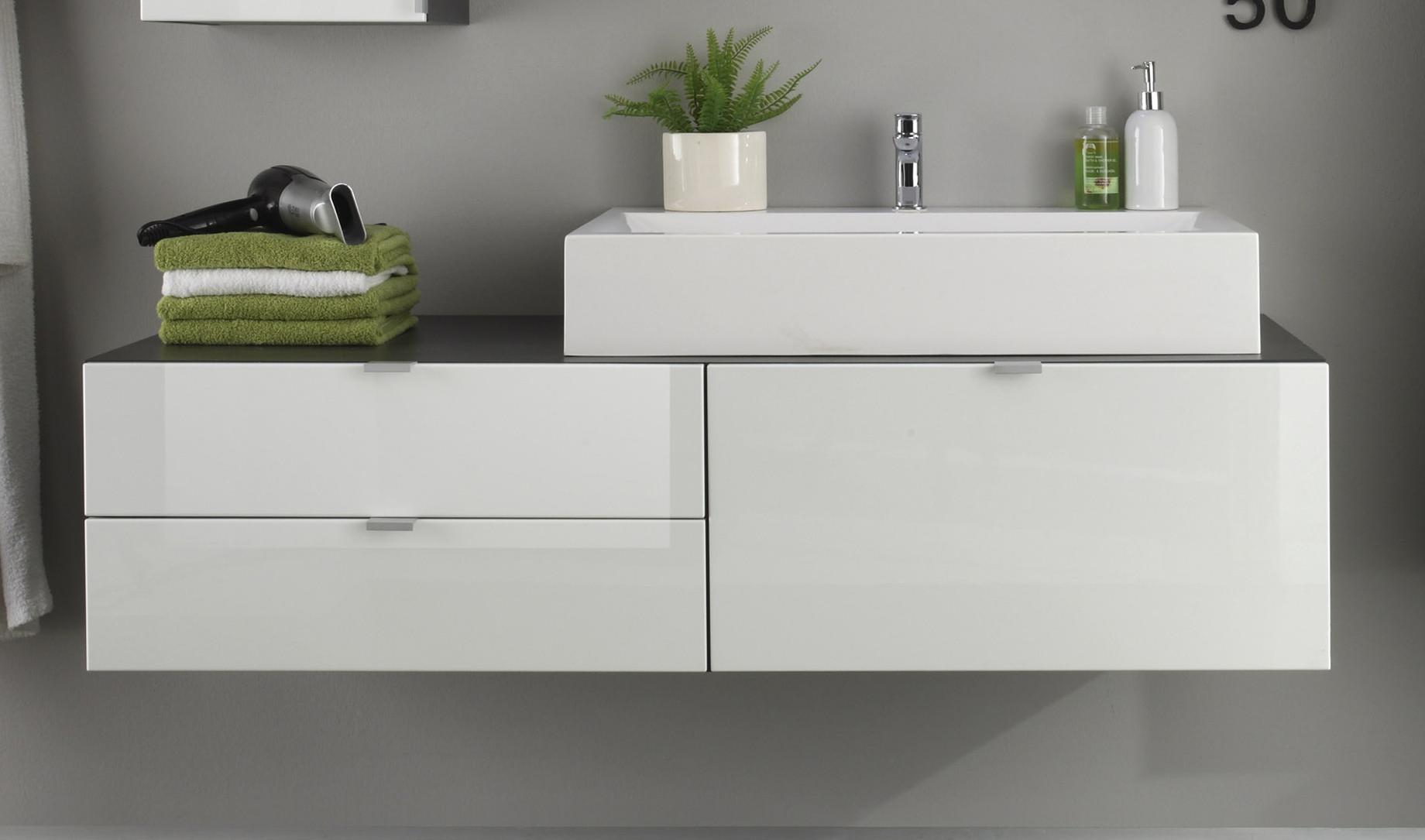 waschbeckenunterschrank wei hochglanz woody 93 00796. Black Bedroom Furniture Sets. Home Design Ideas