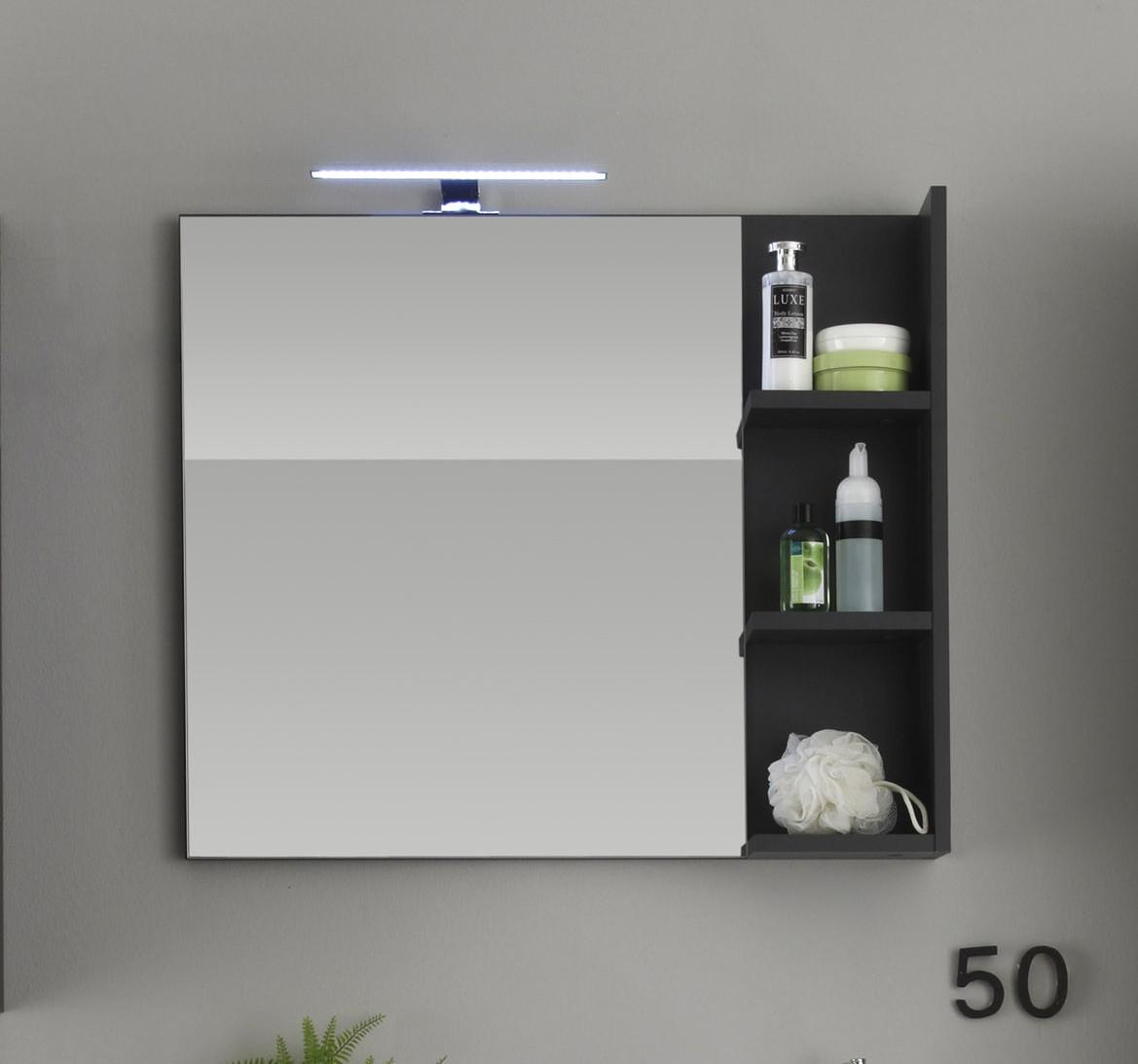 Spiegel Grau Woody 93-00771 Melamin modern