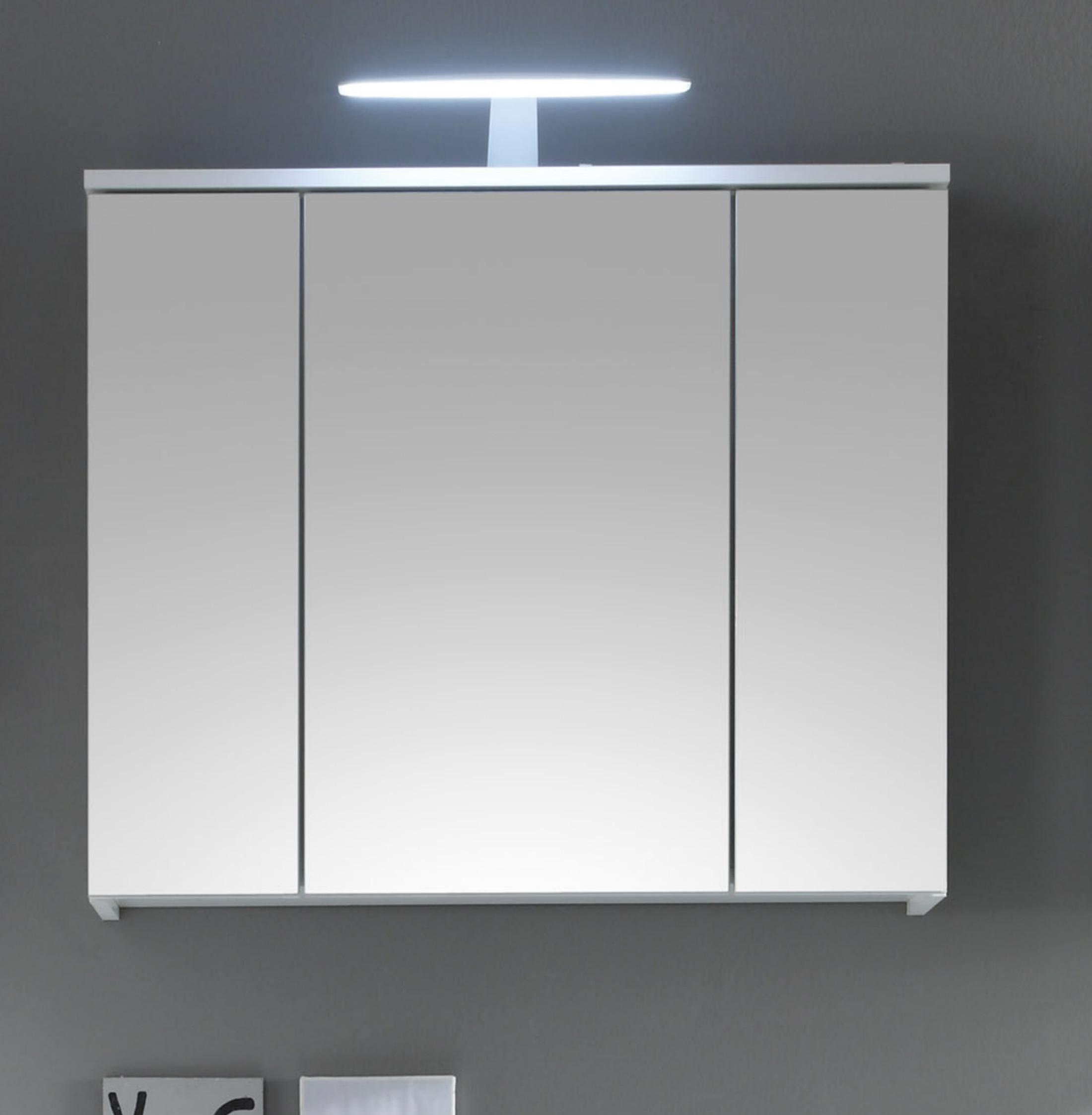 Spiegelschrank Weiss Woody 32-00071 Holz Modern