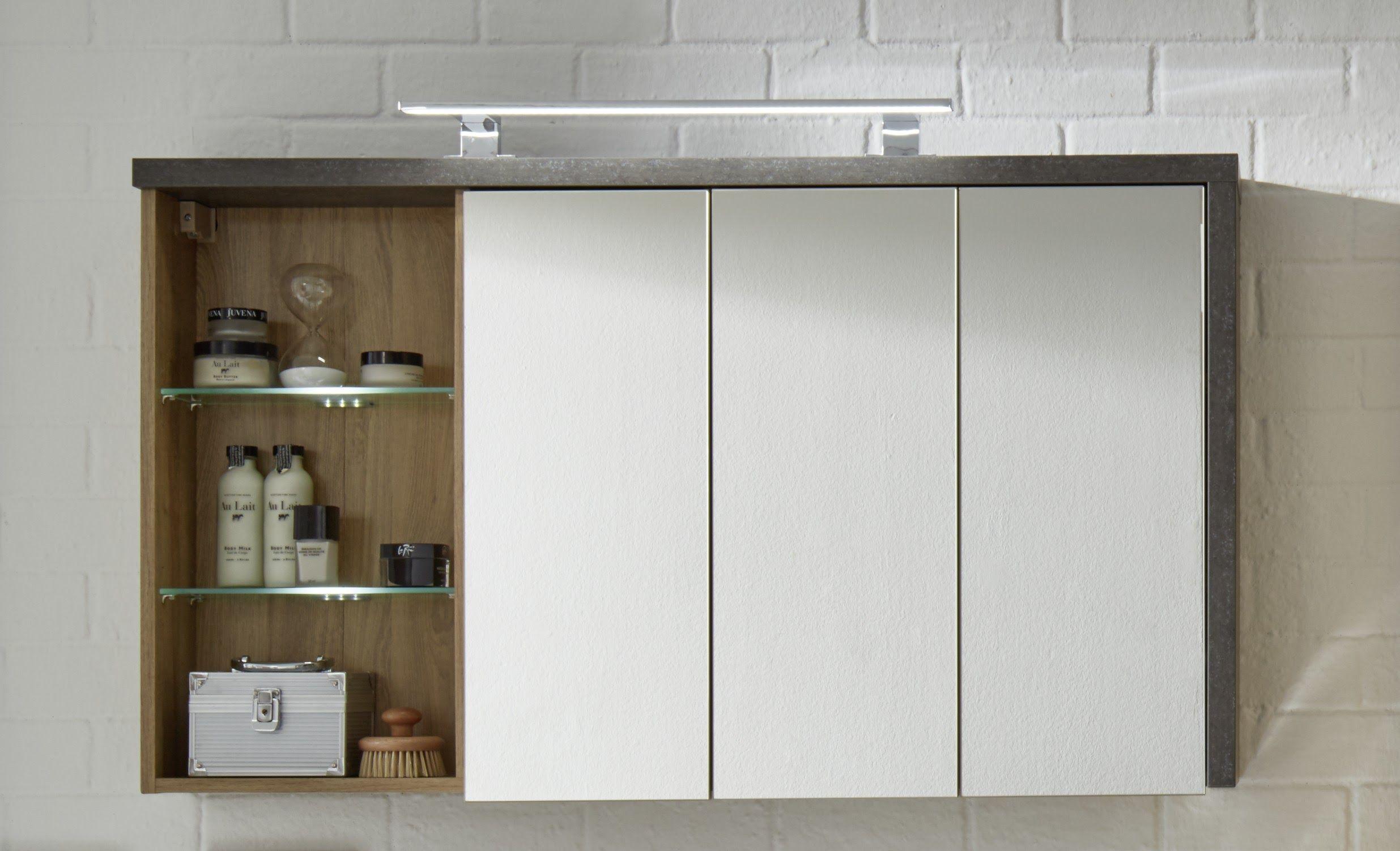 Spiegelschrank Eiche Riviera Honig/ Beton Dunkel Woody 93-01138 Spanplatte Modern