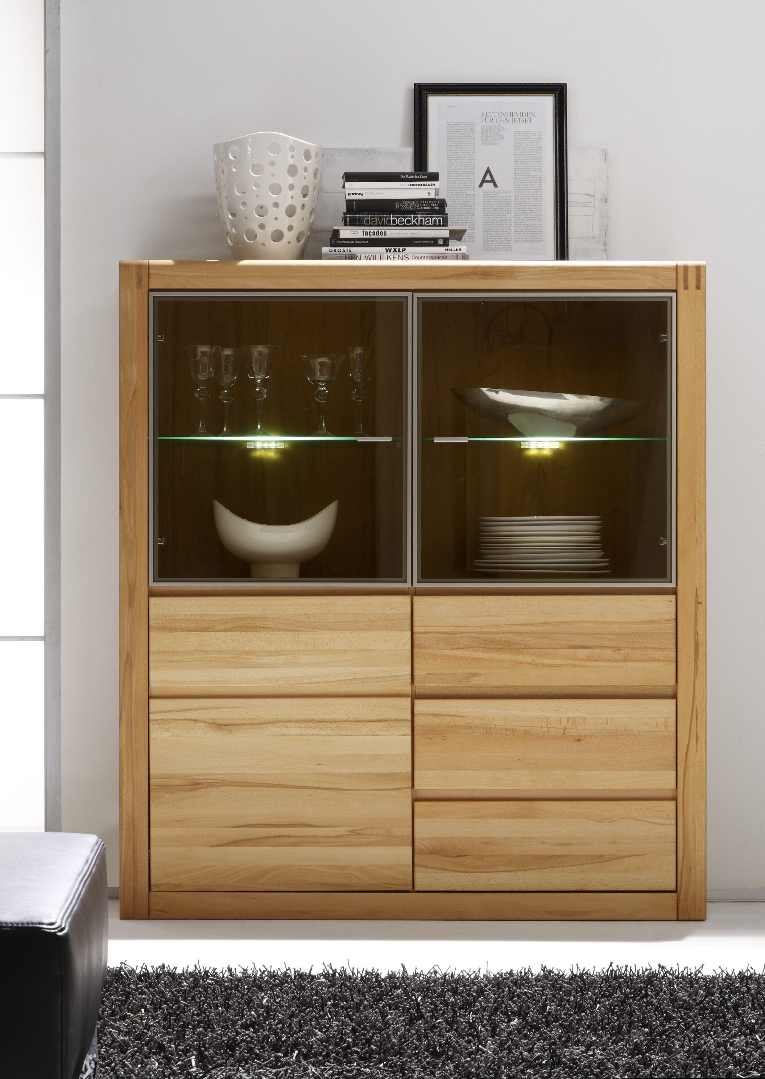 highboard kernbuche teilmassiv woody 35 00219 holz modern m bel24. Black Bedroom Furniture Sets. Home Design Ideas