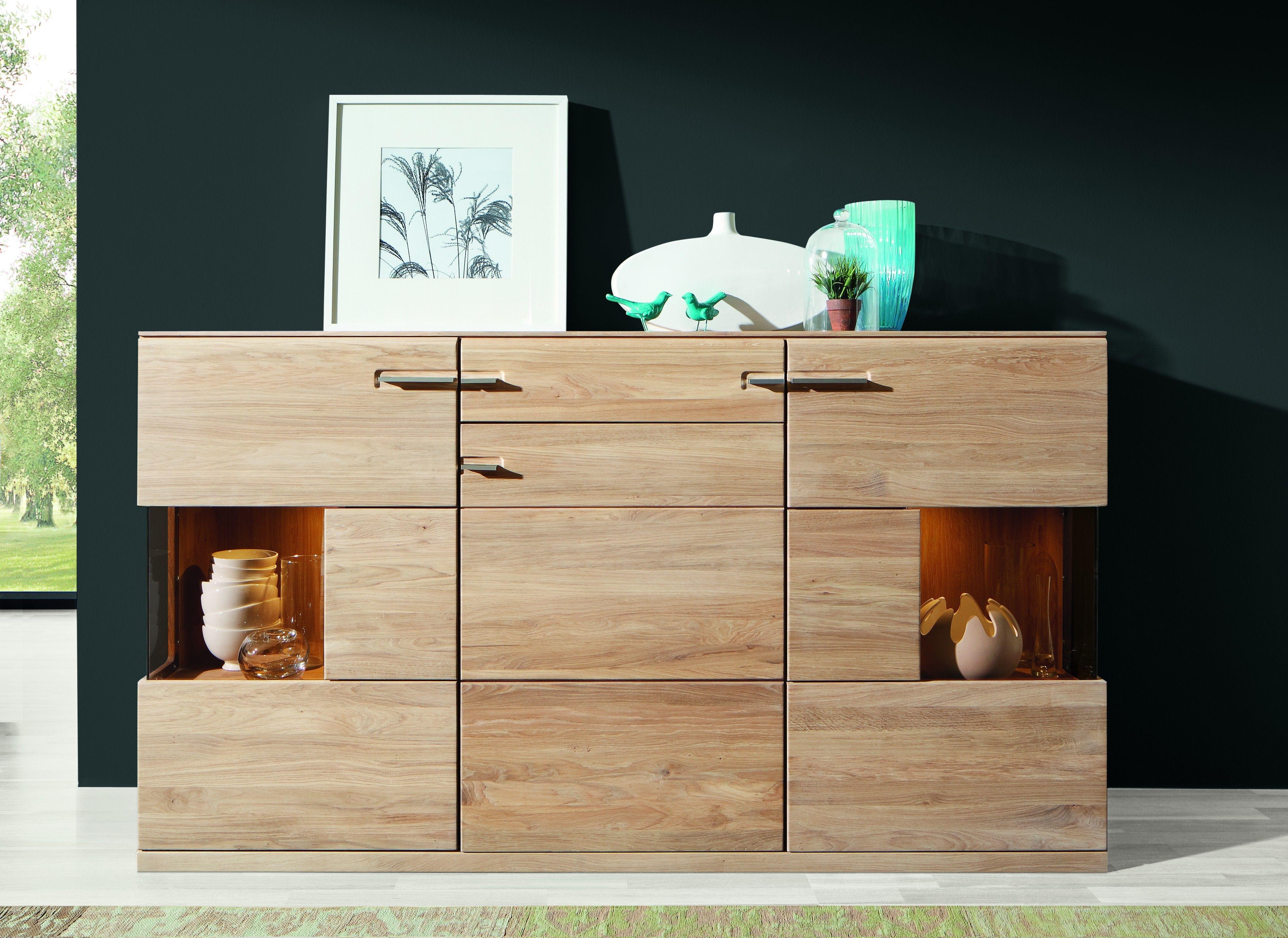 Sideboard Eiche Bianco Massiv Geölt & Gewachst Woody 35-00241 Holz Modern