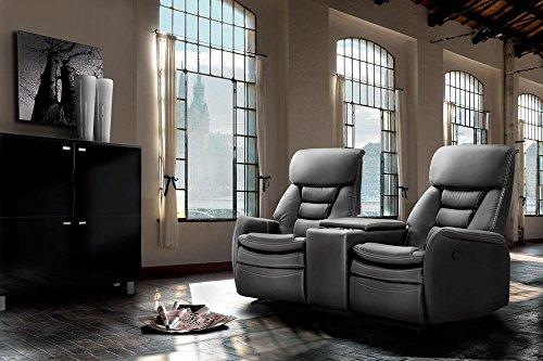 2 Sitzer Kinosessel, Kunstleder schwarz, Cinema - Relax Sofa, Heimkino Sessel, TV Sofa, Relaxcouch, Home Cinema, verstellbar, Liegefunktion