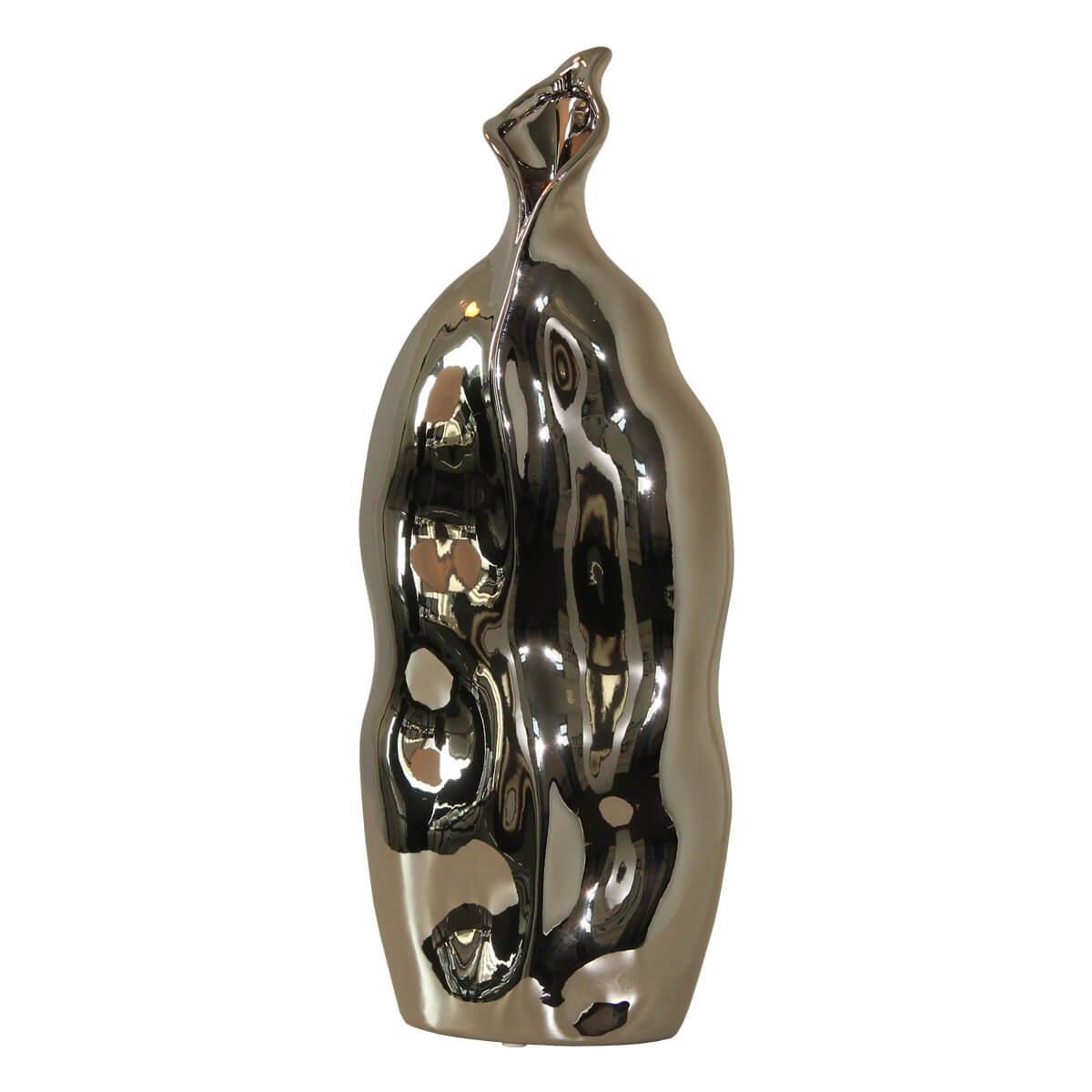 Keramik Vase Silber