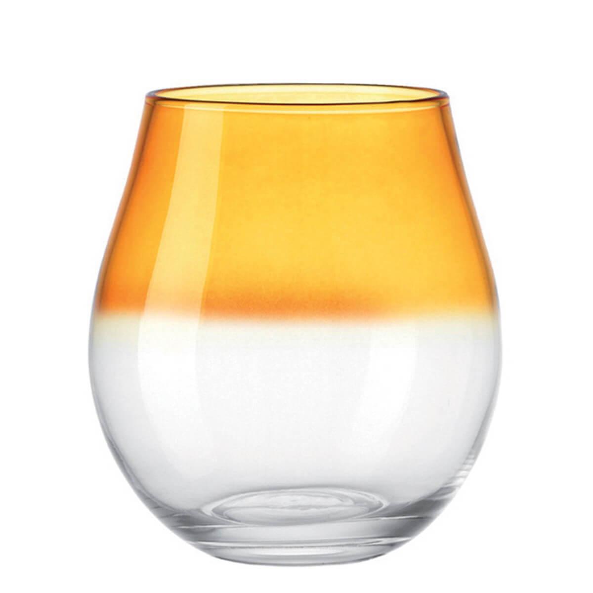 Leonardo Windlicht Orange / Klar