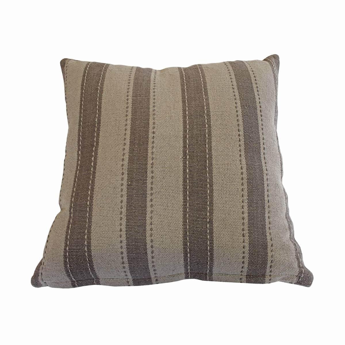 deko kissen 50 50 cm grau und dunkelgrau gestreift m bel24. Black Bedroom Furniture Sets. Home Design Ideas
