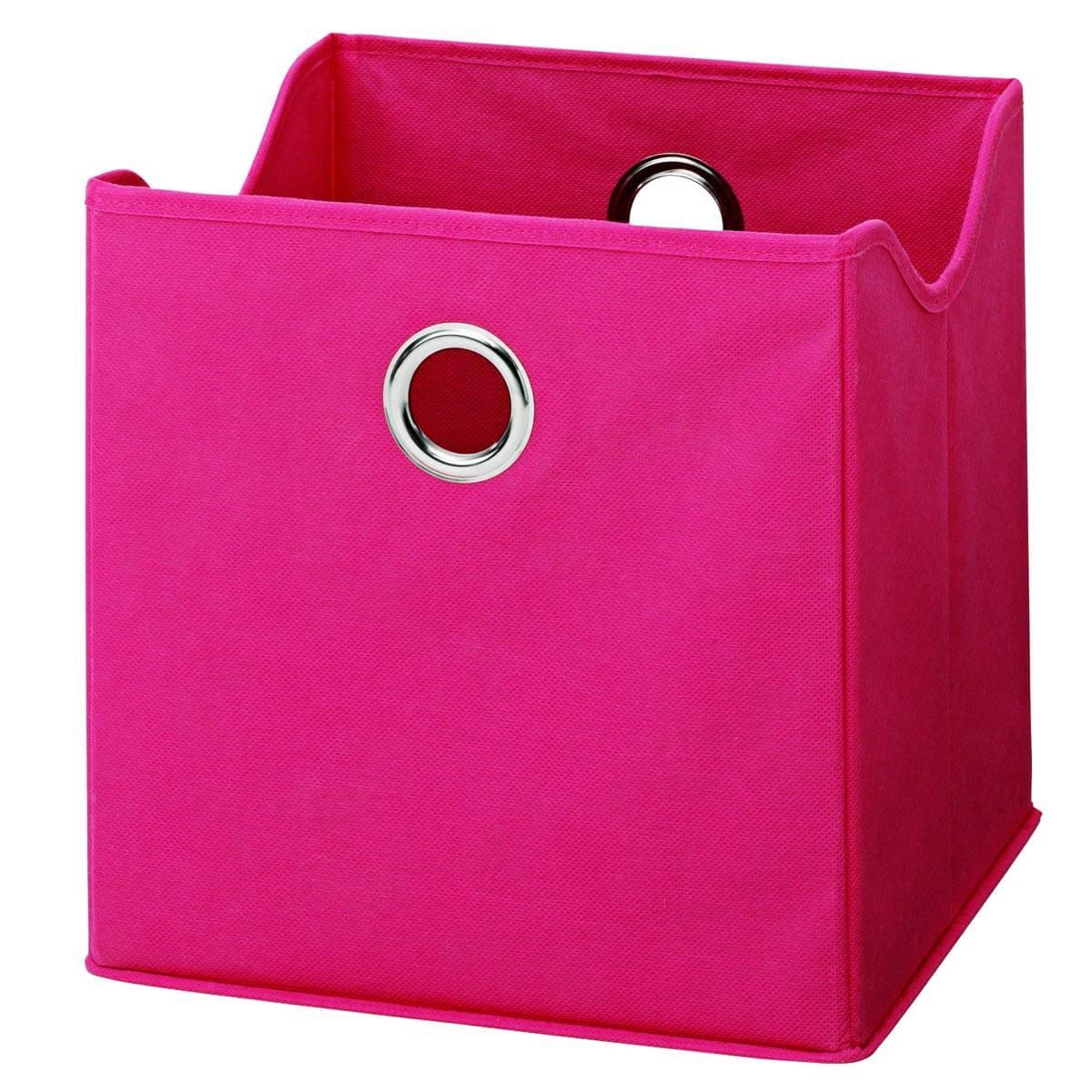 aufbewahrungsbox aus stoff in pink m bel24. Black Bedroom Furniture Sets. Home Design Ideas