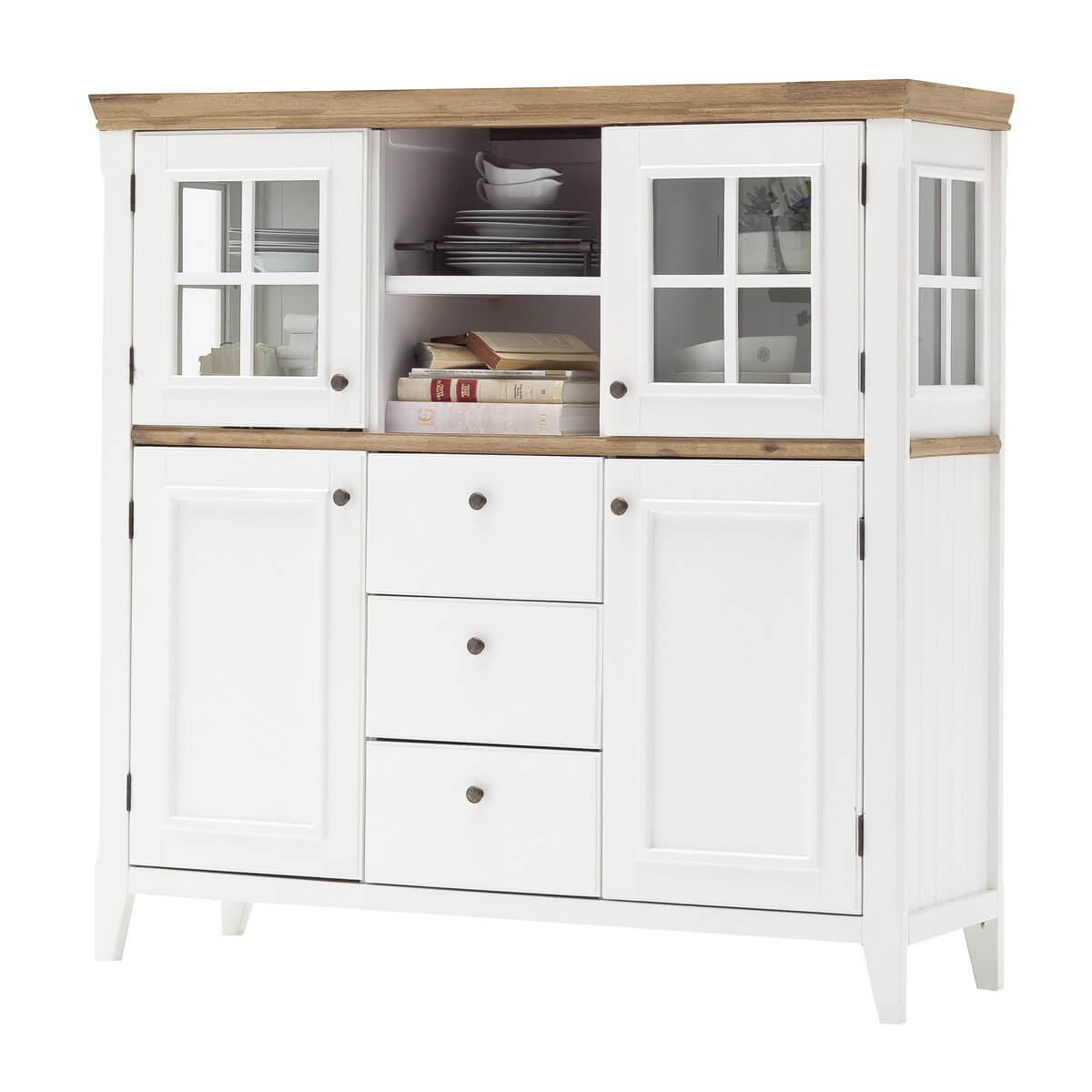 Highboard in wei naturfarbig 150cm breit m bel24 - Polsterecke landhausstil ...