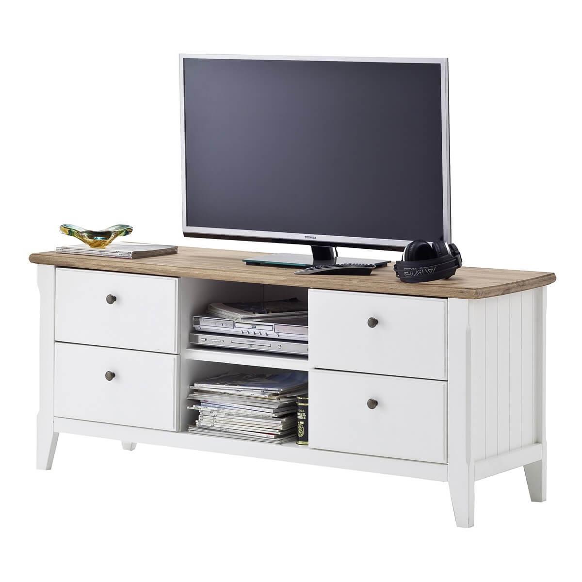 tv lowboard in wei naturfarbig 154cm breit m bel24. Black Bedroom Furniture Sets. Home Design Ideas