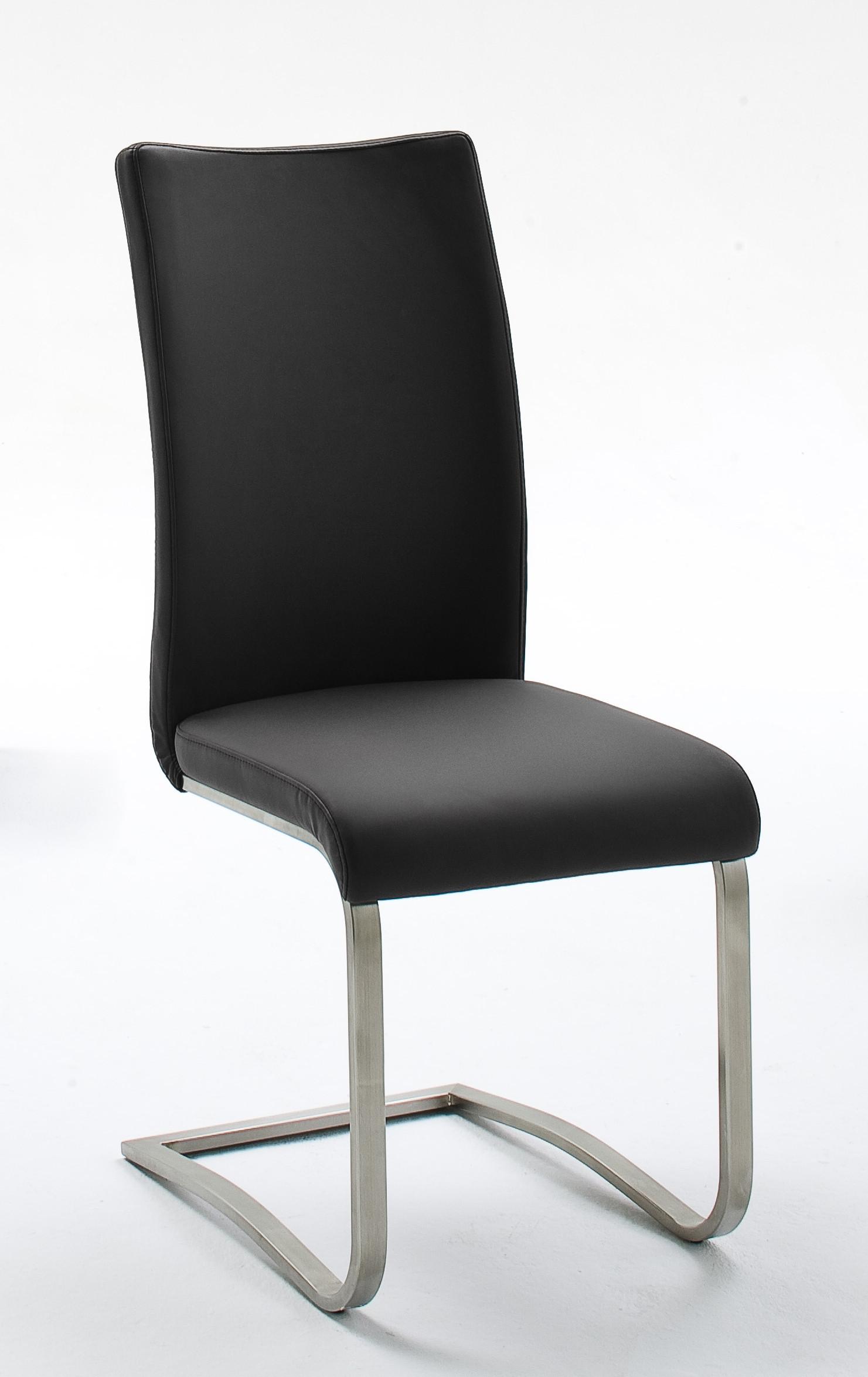 2er-set Schwingstuhl Bezug Leder Schwarz Woody 41-01290 Echtleder neutral