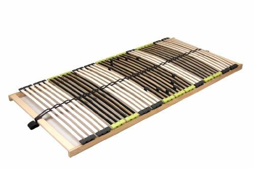 "7 Zonen Lattenrahmen Lattenrost 120 x 200 cm ""DaMi Relax NV"" zerlegt inkl. Härteverstellung 42 Federholzleisten"