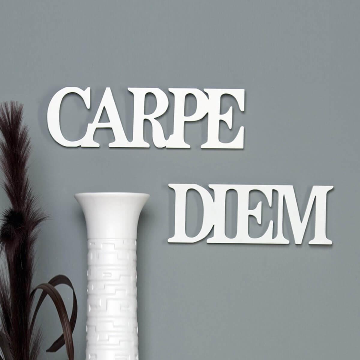 Schriftzug Carpe Diem Wei M Bel24