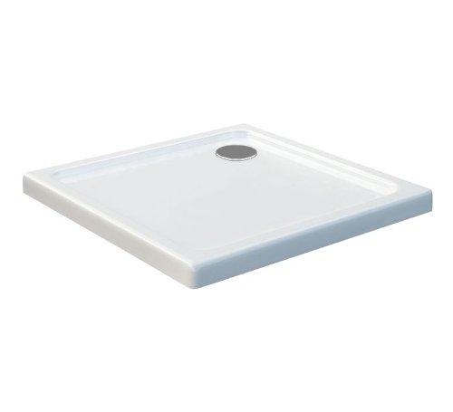90x90 Duschtasse Duschwanne Extra flach 50 mm Rechteck Weiß