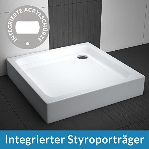 AQUABAD® Duschwanne Comfort Forta Plus 80x80cm Quadrat