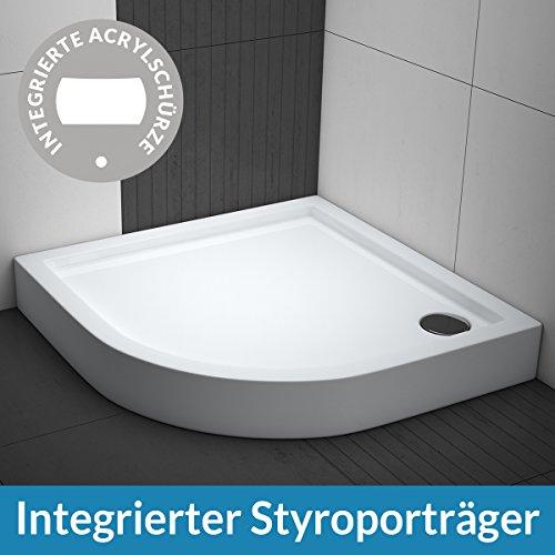 aquabad duschwanne comfort ultima 80x80cm viertelkreis r55 m bel24. Black Bedroom Furniture Sets. Home Design Ideas