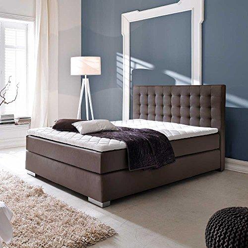boxspringbett in wei matratze breite 182 cm liegefl che. Black Bedroom Furniture Sets. Home Design Ideas