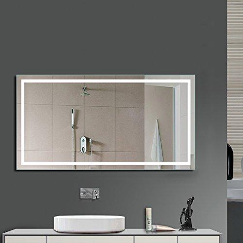 Anten® Spiegel mit lampe kaltweiß 6500k Design Spiegel für Badezimmer led Größe 800x600mm Spiegel Bad Spiegel Wand-Spiegel