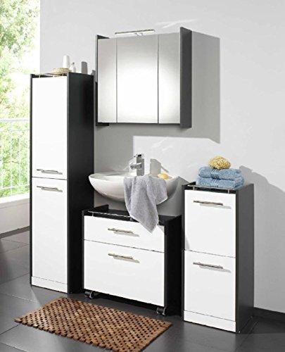 Badezimmer ELEGANCE 4-tlg. Badmöbel Set Lackfront weiß