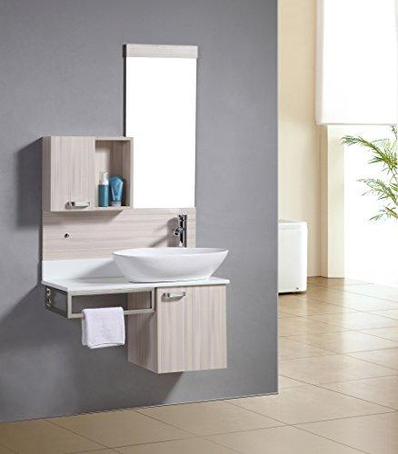 Badezimmermöbel Set - Badmöbel Dublin Eicheoptik - M-70105/2090 - Spiegel - Unterschrank - Waschbecken