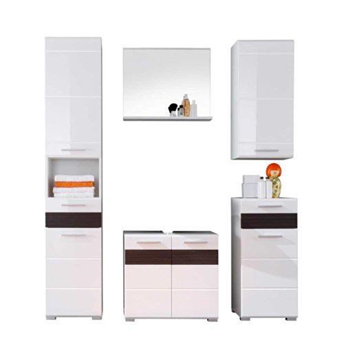 badezimmer set euphonia in rot hochglanz 4 teilig pharao24 m bel24. Black Bedroom Furniture Sets. Home Design Ideas