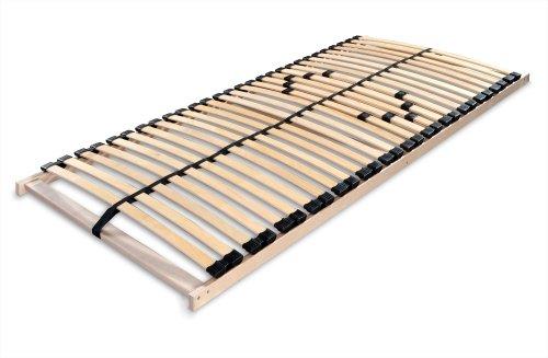 Betten-ABC Lattenrost MAX 1 NV MZV, zur Selbstmontage, mit 28 stabilen und flexiblen Federholzleisten und durchgehenden Holmen, mit Mittelzonenverstellung im Beckenbereich, Größe: 140 x 200 cm