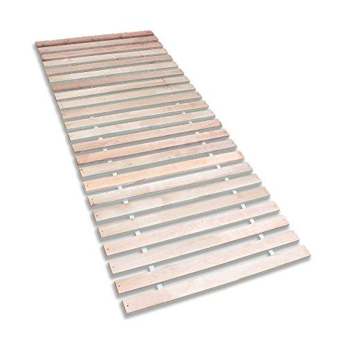 Betten-ABC Premium Rollrost, Stabiles Erlenholz, mit 23 Leisten und Befestigungsschrauben, Größe 140 x 200 cm
