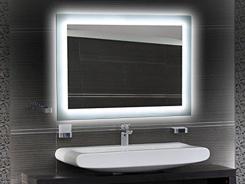 Bilderdepot24 Beleuchteter LED Wandspiegel Badspiegel Spiegel - 65x50 cm O-LED