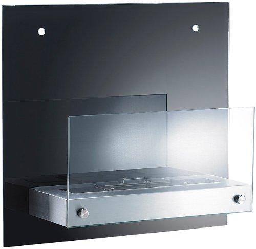 carlo milano bio ethanol deko wandkamin mit r ckwand aus spiegelglas m bel24. Black Bedroom Furniture Sets. Home Design Ideas