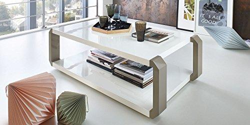couchtisch grau wei hochglanz alfena lack beistelltisch 120x70 oder 140x80 120x70cm m bel24. Black Bedroom Furniture Sets. Home Design Ideas
