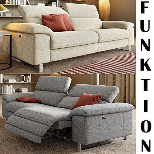 Designer Sofa Funktionscouch Funktionsofa Stoff Sofagarnitur Couchgarnitur 2-Sitzer