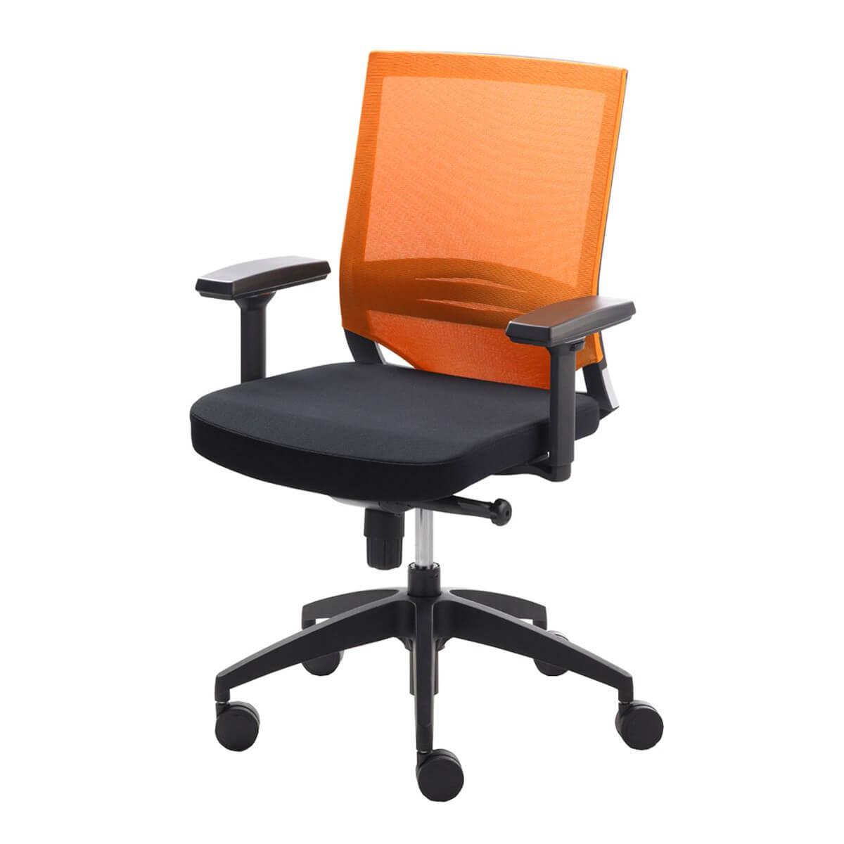 Gepolsterter Drehstuhl In Schwarz Orange M Bel24