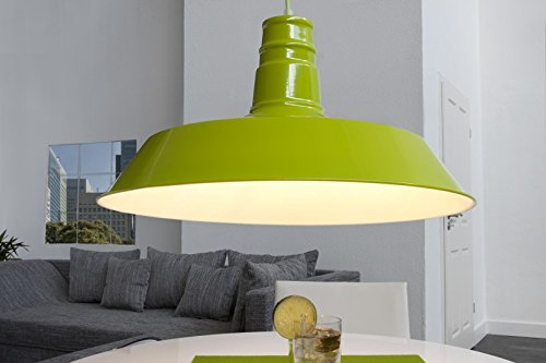 DuNord Design Hängelampe Hängeleuchte INDUSTRIAL grün 45 cm