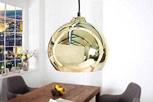 DuNord Design Hängelampe Kugellampe Pendellampe CHROMATRON gold 70er Retro Design Space Age