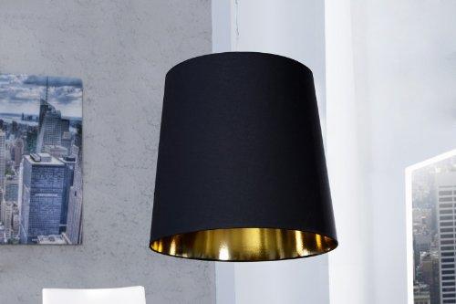 DuNord Design Hängelampe Pedelleuchte schwarz gold 50x55x50