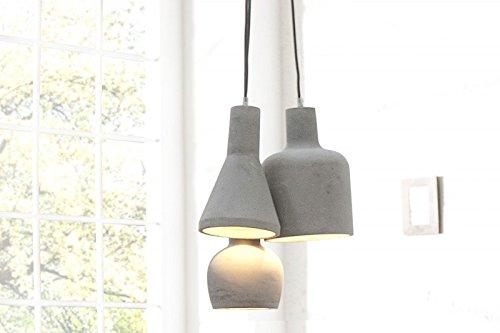 DuNord Design Hängelampe Pendellampe B-TONG MULTI 3 Beton grau Industrie Design Lampe Leuchte