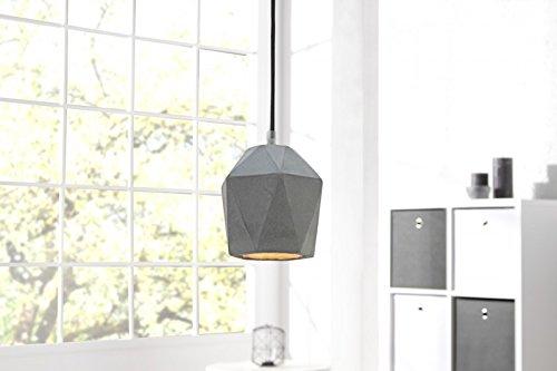 DuNord Design Hängelampe Pendellampe B-TONG PRISMA Beton Lampe Leuchte grau Industrie Design