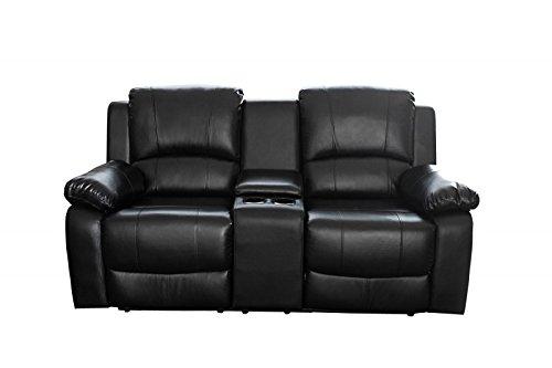 DuNord Design Kinosessel Sessel CINEMA schwarz 2er Polstersessel TV-Sessel Relaxsessel Gamer