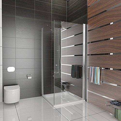 Duschkabine Dusche Duschabtrennung 90x90x195 Komplett Duschtür Eckeinstieg Dusche mit Glasveredelung