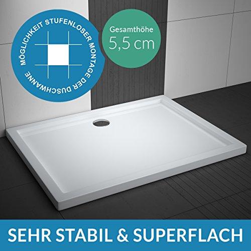 Duschwanne AQUABAD® Comfort Villa Flat 90x140cm Superflach Rechteck