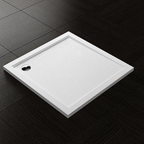 Duschwanne Duschtasse Lucia/Faro in weiß, Form: Quadratisch, BTH: 75x75x4cm