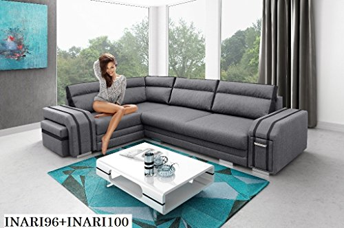 ecksofa couch mit schlaffunktion eckcouch polstergarnitur wohnlandschaft avatar m bel24. Black Bedroom Furniture Sets. Home Design Ideas