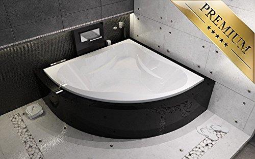 EXCLUSIVE LINE® Riho Neo eckbadewanne 150x150 cm - Füßen, Ablaufgarnitur, Silikon GRATIS