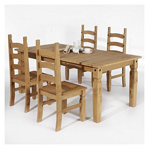 Essgruppe Tischgruppe Essgarnitur TEQUILA Mexico Möbel 1 Tisch + 4 Stühle