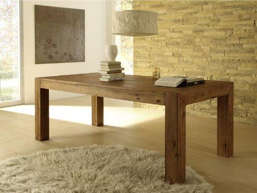 Esstisch Designer Tisch MASSIV ausziehbar 160-220x90 cm Akazie Esszimmertisch