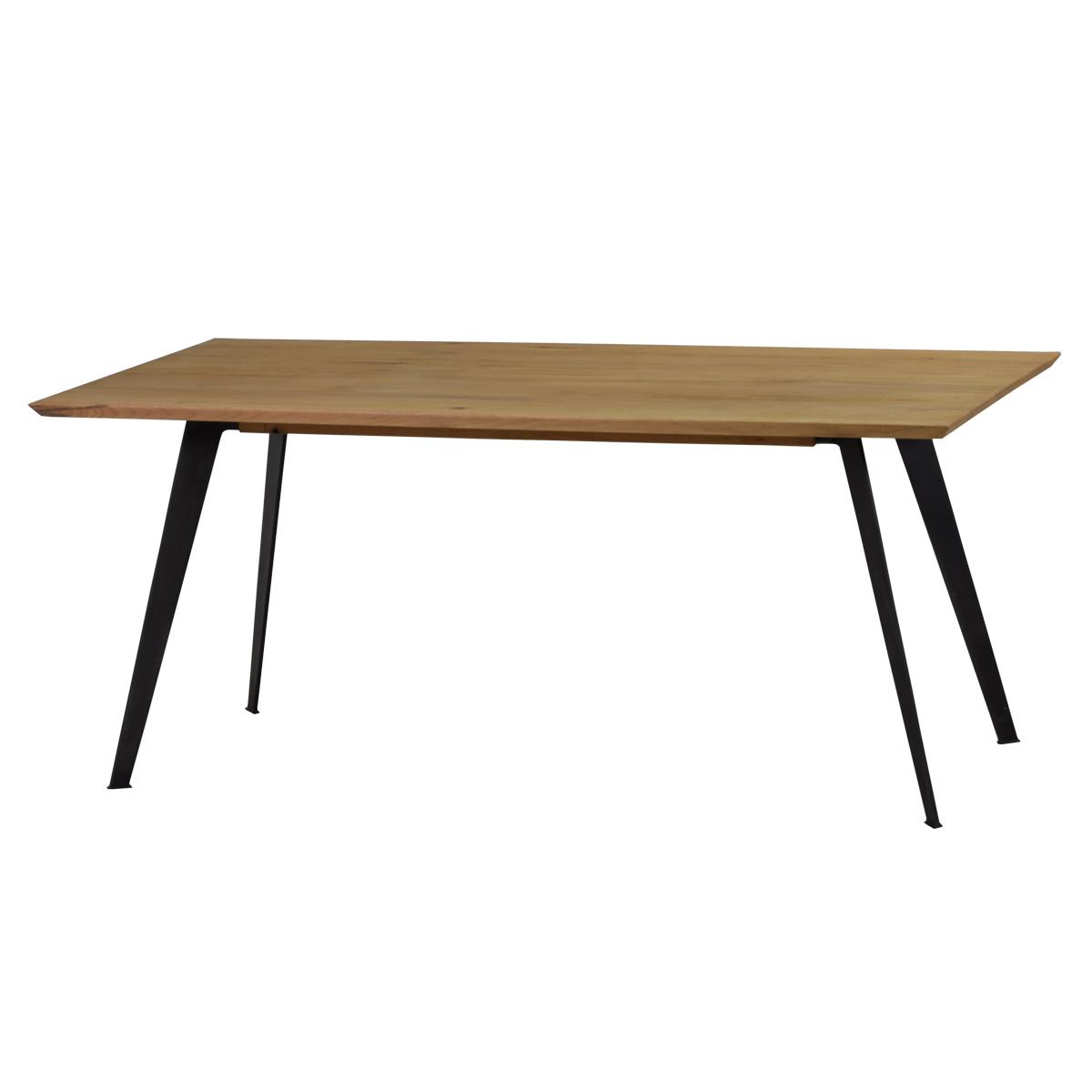 esstisch 200x100 cm in eiche massiv metall m bel24. Black Bedroom Furniture Sets. Home Design Ideas