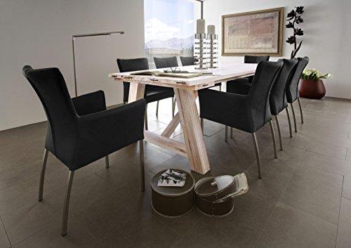 Esstisch Flake Esszimmertisch Massivholztisch Eiche by Madera, Größe:200 x 100 cm;Holzvariante:Balkeneiche White-wash
