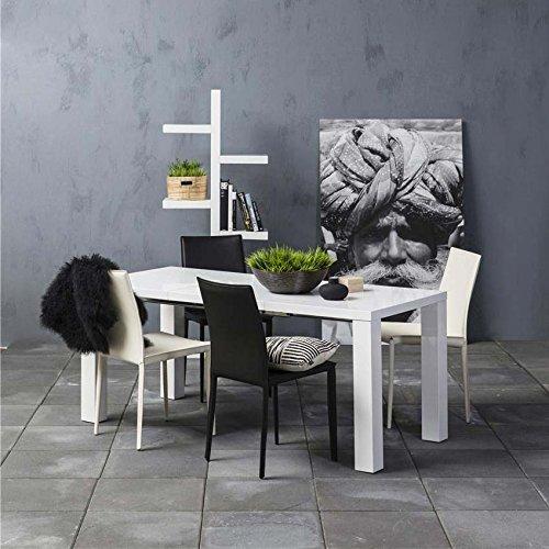 Esstisch/Tisch SPICE, weiß, Hochglanz, ausziehbar, 120/240x80cm