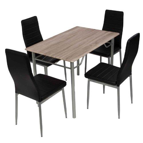 Esstischgruppe Tischgruppe Sitzgruppe mit 4 Stühlen und Esstisch 110x70 cm