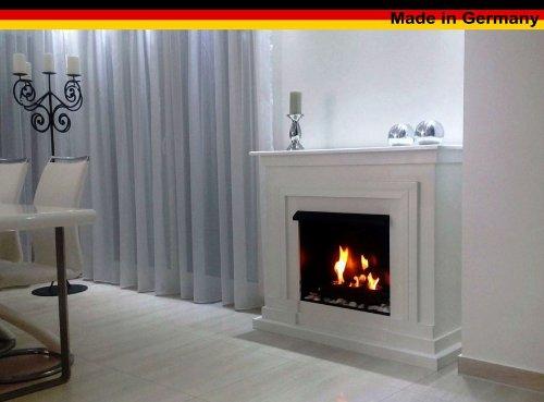 Ethanol und Gelkamin Modell Berlin Deluxe Weiss incl. regulierbaren Brenner Schwarz 3 Liter